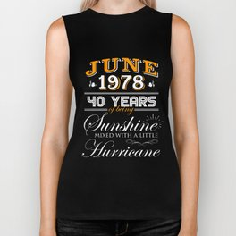 June 1973 40 Years of Being Sunshine and Hurricane Biker Tank
