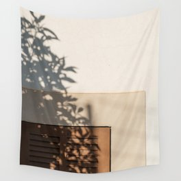 Shadow House Facade Wall Tapestry