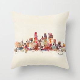 Minneapolis Minnesota Throw Pillow