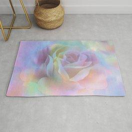 Pastel Watercolor Rose Rug