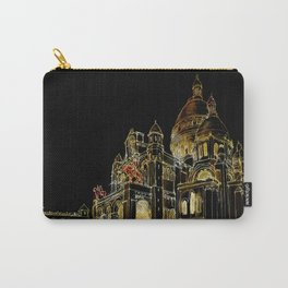 Paris Basilica Sacre Coeur at Night Carry-All Pouch