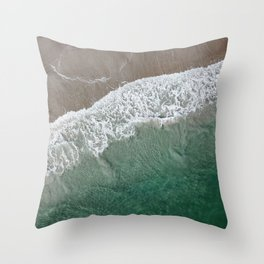 Wrightsville Beach Waves Throw Pillow