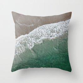 Wrightsville Beach Waves Throw Pillow