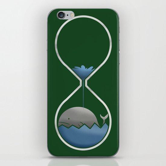 whale hourglass iPhone & iPod Skin