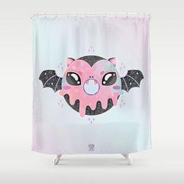 Batty Donut Shower Curtain