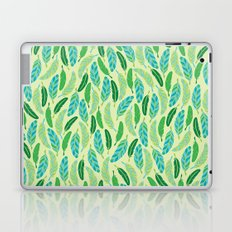 Green Feathers Laptop & iPad Skin