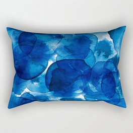 Amazing watercolor background with colorful abstract circles Rectangular Pillow