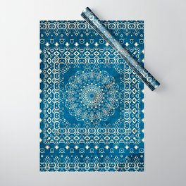 Old Bookshop Magic Mandala in Blue Wrapping Paper