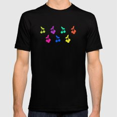 Rainbow cherries Mens Fitted Tee MEDIUM Black