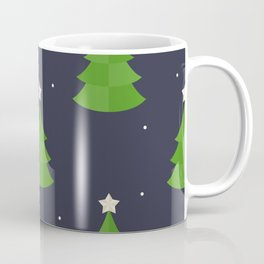 Green Christmas Tree Pattern Coffee Mug