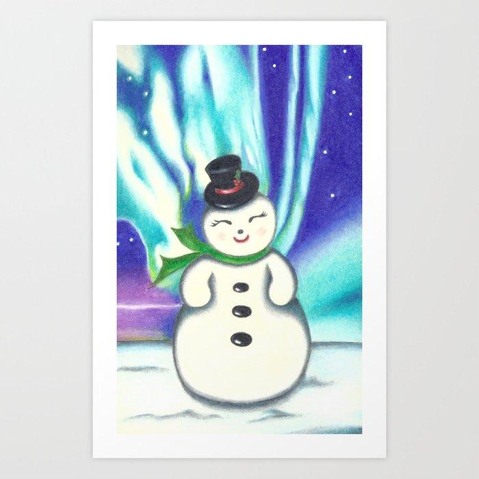 Frosty Art Print