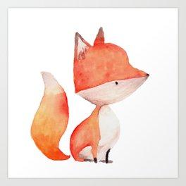 Woodland Critters - Fox Art Print