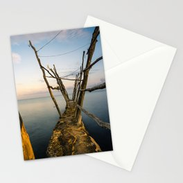 Rustic Pier at the Adriatic Sea Stationery Cards