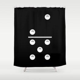 Black Domino / Domino Negro Shower Curtain