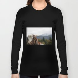 Look who's complaining, funny goat photo Long Sleeve T-shirt