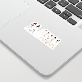 Marriage Milestone Figures Sticker