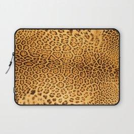 Brown Beige Leopard Animal Print Laptop Sleeve