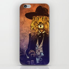 Low down, no good, Lion Cheetah iPhone Skin