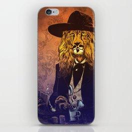 Low down, no good, Lion Cheetah iPhone Skin