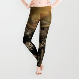 Warrior mind control fantasy magic illustration Leggings