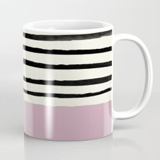 Dusty Rose & Stripes Mug