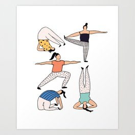 Yoga Ladies Art Print