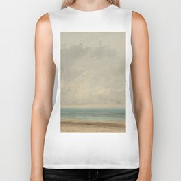 Gustave Courbet Calm Sea 1866 Painting Biker Tank