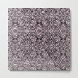 Wool Lace Bohemian Pattern Fiber Texture Taupe Mauve Metal Print