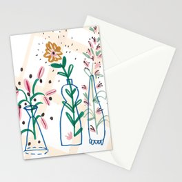 Flowers. Vase, illustration, art, print, pattern, nature, floral, still life, Stationery Cards