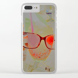 series drink - Orange drink Clear iPhone Case