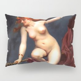 """Luis Ricardo Falero """"Muse of the Night (also known as The Witches Sabbath)"""" Pillow Sham"""