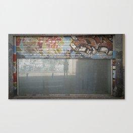 Telón y autosilueta Canvas Print