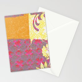 Crayon Bright Rose Pink Collage Love Stationery Cards