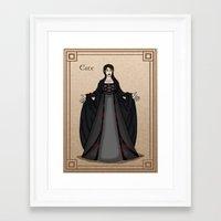 valar morghulis Framed Art Prints featuring Este by wolfanita