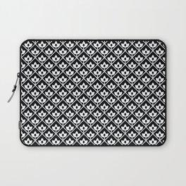 Diamond leaf pattern in black Laptop Sleeve