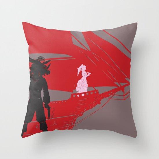 a piratical diversion Throw Pillow