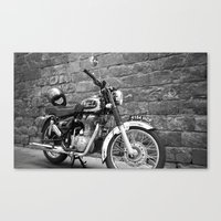 motorbike Canvas Prints featuring Motorbike. by Nicole Mason-Rawle