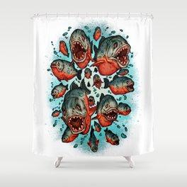 Frenzy Piranhas Shower Curtain