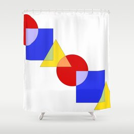 Primary Colors Shower Curtain