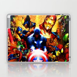 super heroes unite Laptop & iPad Skin