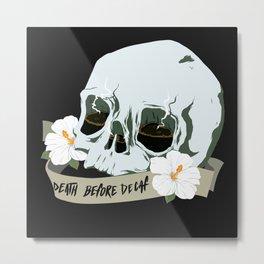 Death Before Decaf Metal Print
