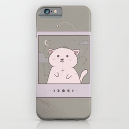 Instant photo cat in space iPhone Case