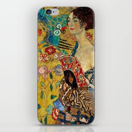 Gustav Klimt Lady With Fan iPhone Skin