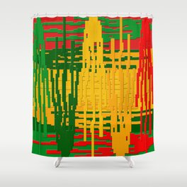 Crayon Invaders Shower Curtain