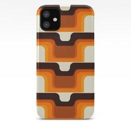 Mid-Century Modern Meets 1970s Orange iPhone Case
