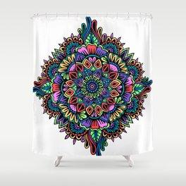 Gelly Roll Mandala Shower Curtain