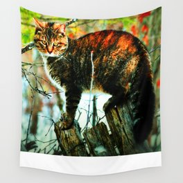 Cat the Huntress Wall Tapestry