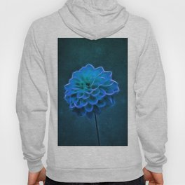 Dahlia Art Blue Hoody
