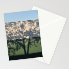Shadow Tree on an industrial building Stationery Cards