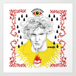 Teardrops for Layne Art Print